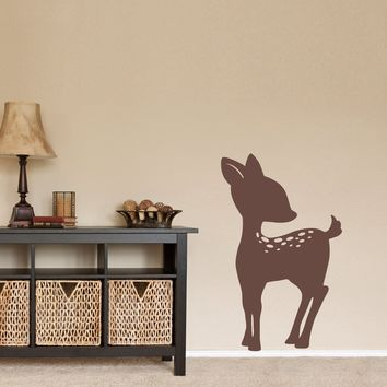 Fawn Wall Decal - Deer wall art - Animal Decor - Kids Bedroom - Large
