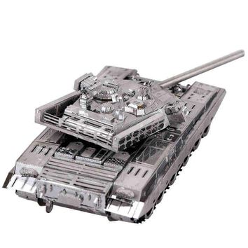 MU 3D Metal Puzzle China T99 Tank Building Model Kit YM-N027 DIY 3D Laser Cut Assemble Jigsaw Toys For Audit with free shipping