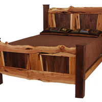 Rustic Wood Bed, Juniper and Walnut Bed, Rustic Bed, Reclaimed Wood Bed, Rustic Furniture