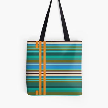 'Stripes ' Tote Bag by Manitarka