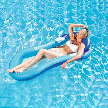 Pool Floating Sleeping Bed Water Hammock Lounger Chair Float Inflatable Air Mattress
