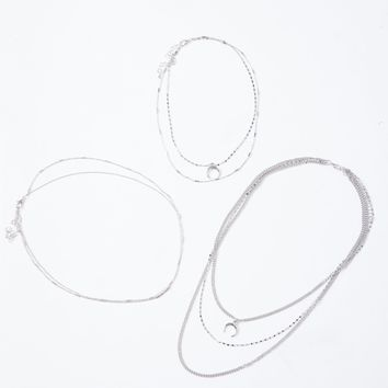 Luna Crescent Necklace Set
