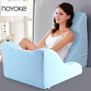 NOYOKE 60*55*35-15 cm Home Textiles Bedding Sleeping Memory Foam Cushions Bed Side Large Lumbar Rest Memory Foam Cushions