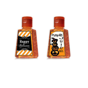 Mini Hand Sanitizer Halloween Label