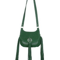 Premium Ring Crossbody Leather Bag - Green