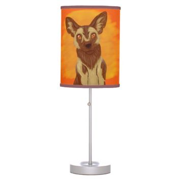 African Wild Dog Desk Lamp