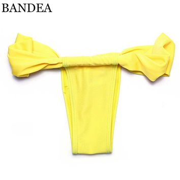 BANDEA swimming suit brazilian bikini thong bikini swimwear women bathing suit swimsuit biquini bottom cheap thong bikinis thong