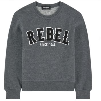 Dsquared2 Boys Grey 'Rebel' Sweatshirt