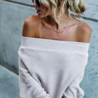 Scenic Adventures Knit Sweater - cream
