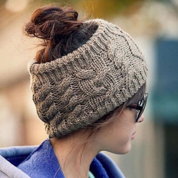 Knitted Yarn Winter Headband