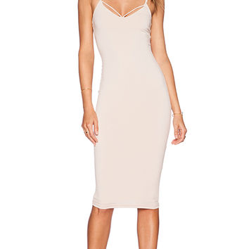 Nookie Mi Amore Backless Shift Dress in Blush