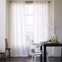 Cotton Canvas Curtain - White
