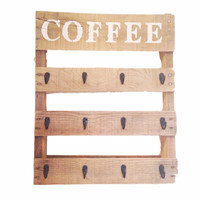 Reclaimed Wood Coffee Mug Rack