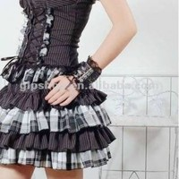 PUNK Rave lolita Gothic Rock dress GLP 61146 S white ກ