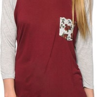 Empyre Indria Floral Pocket Baseball Tee
