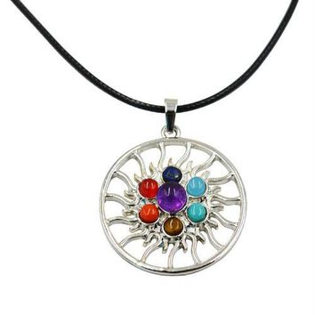 Hinduism Mandala Zen Tree Of Life Healing Reiki Meditation 7 Chakras Necklaces&Pendants Yoga Jewelry collier femme  bijoux Women style16