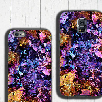 Chalcopyrite Samsung Galaxy case colorful iPhone 6s case crystal iPhone 5S case, gemstone phone case, Mineral iPhone 4/4S case, Geode druse