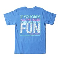 If You Obey All the Rules, You'll Miss All the Fun Tee in Flo Blue by Jadelynn Brooke - FINAL SALE