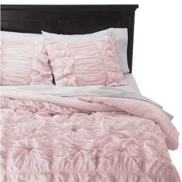 Rizzy Home Pink Knots Texture Comforter Set