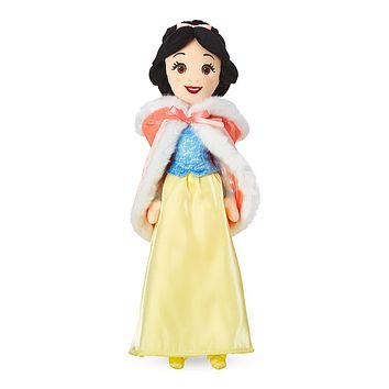 Disney Snow White Plush Doll in Winter Cape Medium New with Tags