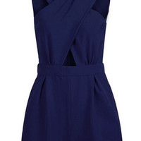 Blue Cross Front Cut Out Romper
