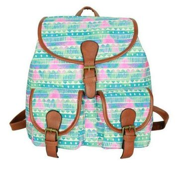 PEAPON Day First Cute Sweet Tribal Travelling Bag College School Bag Canvas Backpack Daypack
