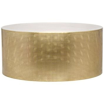Glamor Coffee Table, Antique Brass, Metal