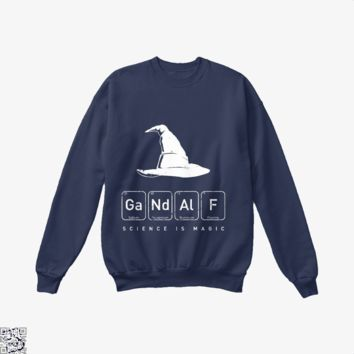 Gandalf's Magical Science, Lord Of The Rings Crew Neck Sweatshirt
