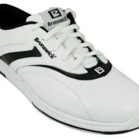 Brunswick Ladies Silk White/Black bowling shoes size