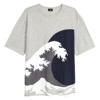 Wide-cut T-shirt - from H&M