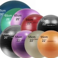 "Isokinetics Inc. Brand Exercise Ball - Anti-Burst - 55cm/22"" - Purple"