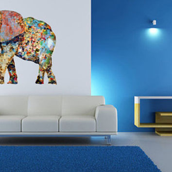 Fulcolor Wall Decal Vinyl Sticker Decals Art Decor Design Mural Ganesh Om Elephant Tattoo Mandala Tribal Buddha Bedroom Office Dorm (col6)