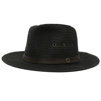 Fallen Broken Street Ratatat Straw Hat in Black