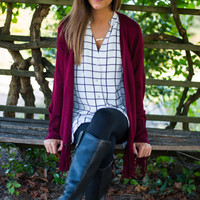 Cross Checked Tunic, White/Black
