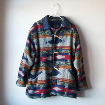 Vintage Wool Navajo Toggle Coat