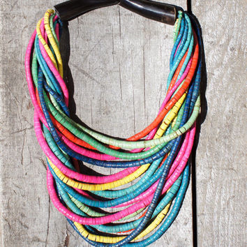 Gerda Lynggaard Monies Multi-Strand Multi-Color Runway Necklace