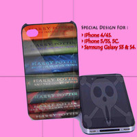 Harry Potter Collection Book for iPhone 4/4S Case, iPhone 5/5S, 5C Case - Samsung Galaxy S3 i9300, S4 i9500 Case.