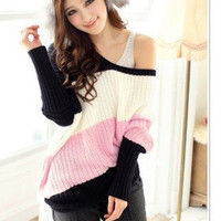 Triple Color Knit