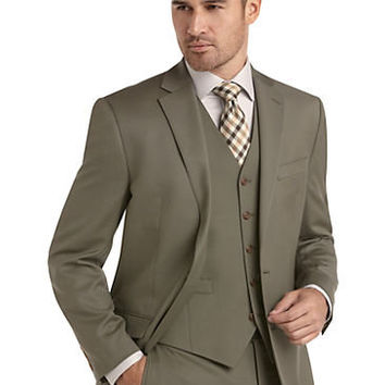 Suits - Lauren by Ralph Lauren Light Olive Vested Suit - Men's Wearhouse