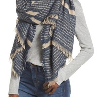 Sole Society Stripe Blanket Scarf | Nordstrom