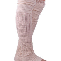 Black White Light Gray Dark Gray Khaki Knitted Cotton Lace Leg Warmers Winter Wool Leg Warmers Boot Socks Botas Femininas 2D21