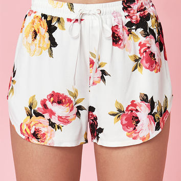 Kendall and Kylie Floral Jogger Shorts at PacSun.com