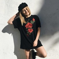 Short Sleeve Hot Sale Embroidery T-shirts [256933920794]