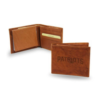 New England Patriots NFL Embossed Leather Billfold