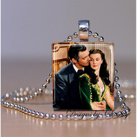 Gone with the Wind Scrabble Charm Necklace