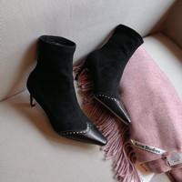 DIOR Spectadior Ankle Boot In Stretch Suede Calfskin