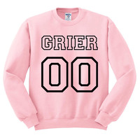 Pink Crewneck Jersey Numbers Hayes Grier Sweatshirt Sweater Jumper Pullover