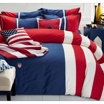 Cotton Concise Flag Warm Duvet Quilt Cover Sets Bedding Cover Sets 008