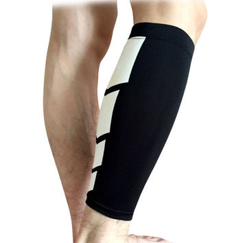 1 PC football Basketball Sport Bicycle Calf Leg Brace Support Stretch Sleeve Compression Exercise Leggings free shipping