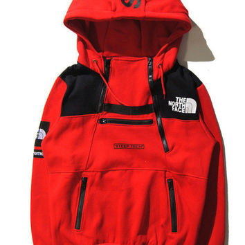 Supreme & The North Face Hoodies Pullover Sweatshirt